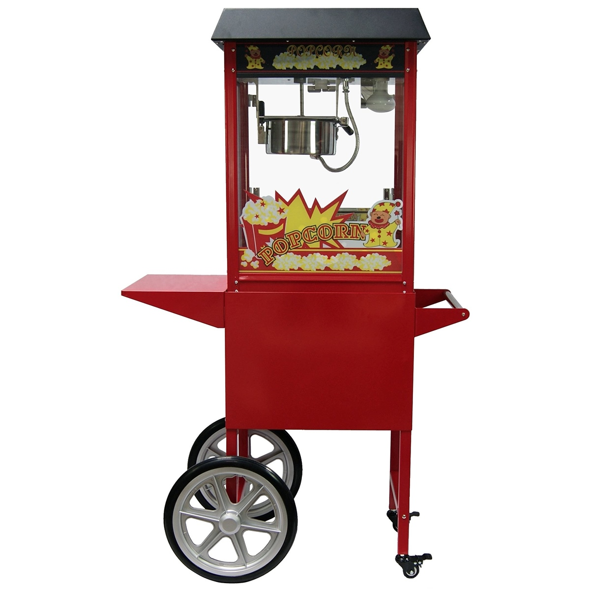 machine pop corn professionnelle avec chariot ebay. Black Bedroom Furniture Sets. Home Design Ideas
