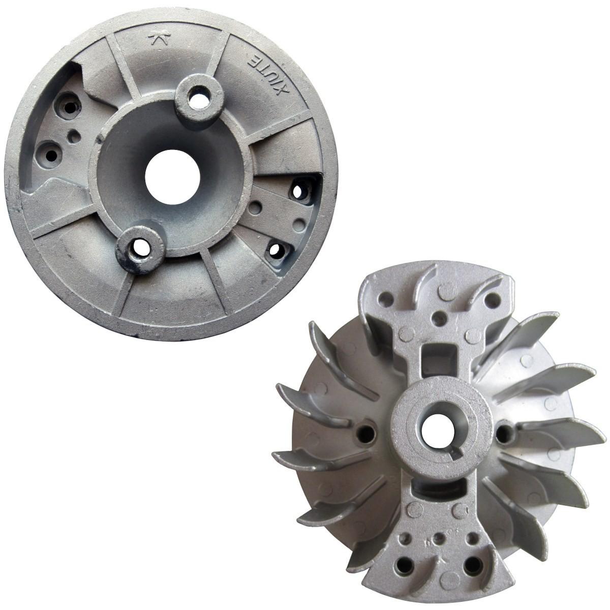 Volant magnétique pour débroussailleuse, multifonction 4 en 1, outil sur perche et tarière