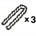 Lot de 3 chaînes 44 maillons pour multifonction 4 en 1 et outil sur perche