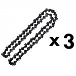 Lot de 3 chaînes 72 maillons pour tronçonneuse
