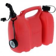 Bidon double pour essence et huile - 6 et 3 litres