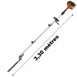 Taille-haies thermique sur perche, 52 cm3, 3 CV, longueur 3.30 mètres