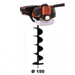 Tarière thermique 52 cm3 - 3 CV + mèche 150 mm